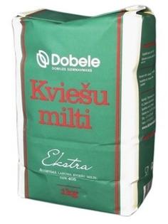 """Изображение Мука пшеничная в бумажном пакете """"Ekstra"""", Dobele 1kg"""