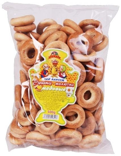 Picture of Hard Bagels Sushki Maljutka with Honey Taste 500g