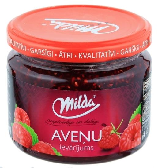 """Изображение Jam, Raspberry """"Avenu"""", Milda 350g"""