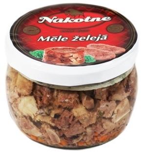 """Picture of Pork Tongue Slices In Gelatin """"Mele Zeleja"""", Nakotne 180g"""