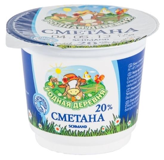 Picture of Rodnaja Derevnja Sour Cream 20% 250g