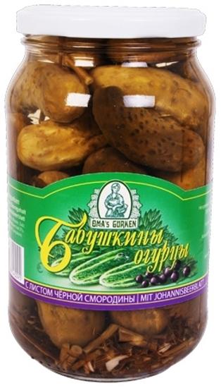 """Изображение Огурцы """"Бабушкины"""" с листом смородины 900g"""