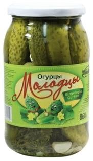 """Изображение Огурцы """"Молодцы"""" 860g"""