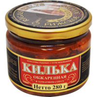 Picture of Fried Sprats in Tomato Sauce in a Jar 280g