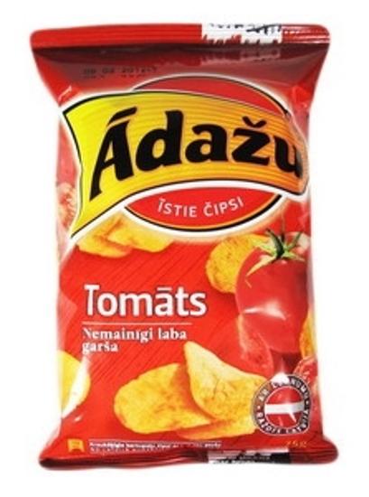 """Picture of Crisps With Tomato Flavour """"Tomatu"""", Adazu 75g"""