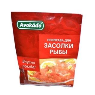 Изображение Avokado Приправа для засолки рыбы 25г Пенал