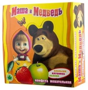 """Изображение Жевательные конфеты """"Маша и Медведь"""" 11g"""