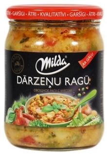 """Изображение Овощное рагу с мясом """"Darzenu Ragu"""", Milda 500g"""