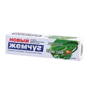 """Изображение Зубная паста """"Новый жемчуг"""" Семь трав 100 мл"""