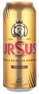 """Изображение Пиво """"Ursus Premium"""" 5% Alc. 0.5L"""