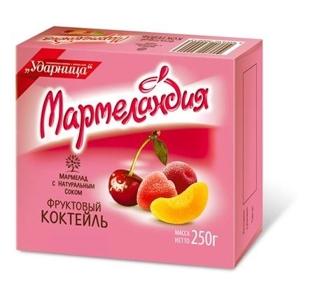 Изображение Мармелад фруктовый коктейль 250g