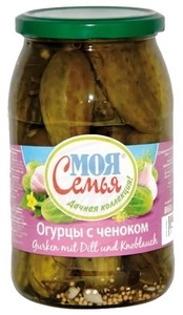 "Picture of Cucumbers with Garlic ""S chesnokom"", Moja semja 840g"