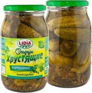 """Picture of Cucumbers Pickled """"Izumrudnye"""" 900ml"""