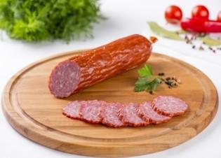 """Picture of Sausage, Smoked """"Servelat Kremlinoff"""", Germes 300g"""