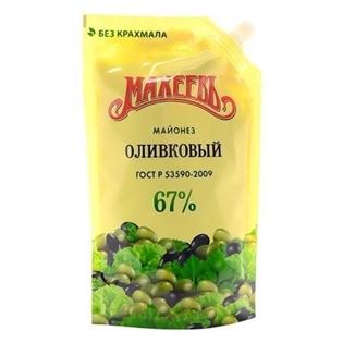Изображение Махеев Майонез Оливковый 67% ДП 380г