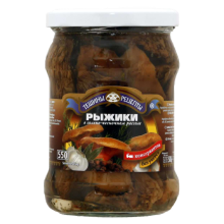 Picture of Teshchiny Recepty Ryzyki Mushrooms 530ml