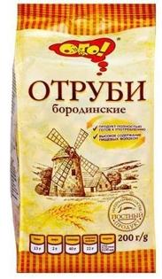 Изображение  Отруби ржаные Бородинские 200г