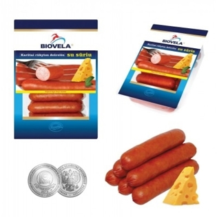 Picture of Biovela Hot Smoked Sausages with Cheese 800g
