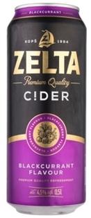 """Изображение  Пивной напиток со вкусом черной смородины """"Zelta"""" 4,5% Alc. 0.5L"""