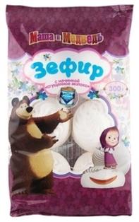 """Изображение Конфеты """"Зефир"""" со сгущенным молочным вкусом """"Маша и Медведь"""" 300г"""