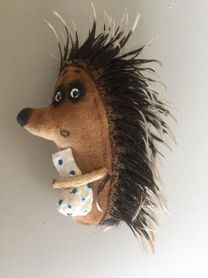"Picture of Brooch ""Hedgehog in the Fog"" handmade"