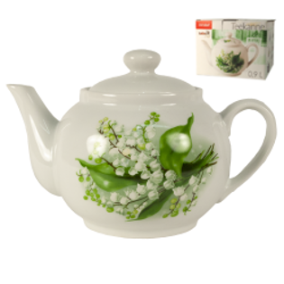 "Picture of Tea Pot ""Lily of Valley"" 0.9l"