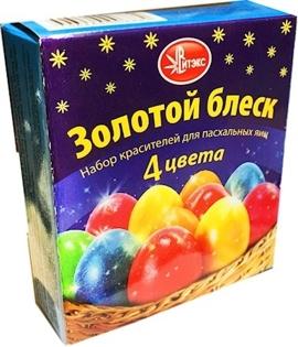 """Picture of Dye for eggs""""Golden glitter"""" 4tsv 12g"""