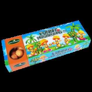 Picture of Funny Mushrooms Orange Mini Biscuits 150g