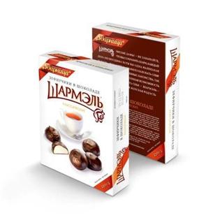 Изображение Зефирчики Шармель в шоколаде классические 120g
