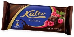 Изображение Kalev Темный шоколад с малиной 100г