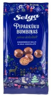 """Изображение Имбирные шарики в молочном шоколаде """"Selga"""" 150g"""