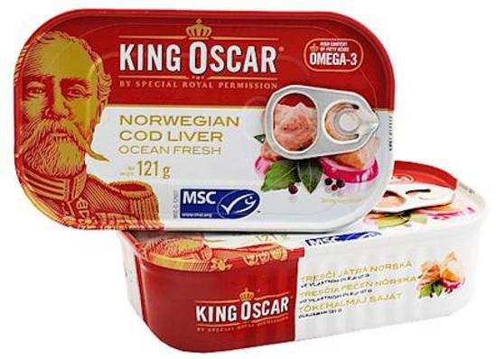 Изображение Печень трески Норвегия 121g