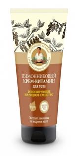 """Изображение Крем витамин для тела""""Рецепты бабушки Агафьи"""" Лимонниковый, 200 мл"""
