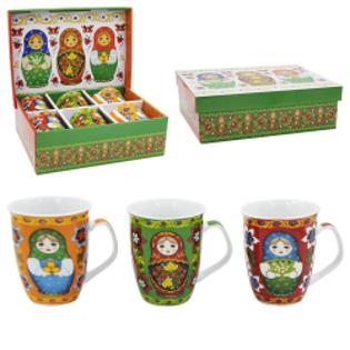 Picture of Set of 6 mugs, Matreshki, 0.35 l, gift package