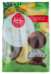 """Изображение  Зефир со вкусом дыни в глазури с шоколадом """"Maigums"""", Laima 200г"""