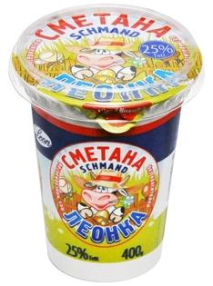 """Picture of Sour Cream """"LEONKA"""" (LV) 25%, 400g"""