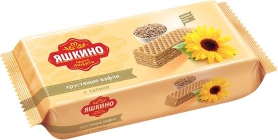 "Picture of Wafers ""Yashkino"" with halva 300g"