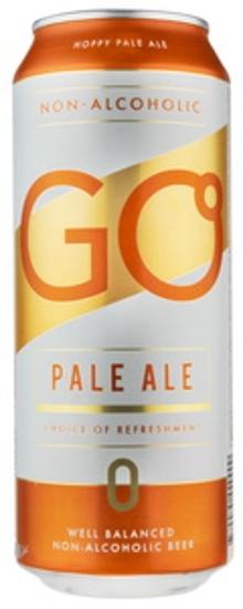 """Изображение  Пиво в банке, безалкогольный бледный эль """"Go"""", Aldaris 0,5% Alc. 0.5L"""