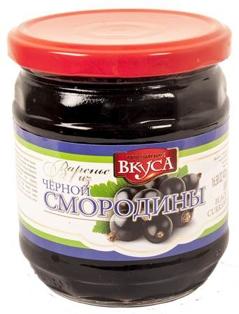 Изображение Варенье из чёрной смородины 470g LUX