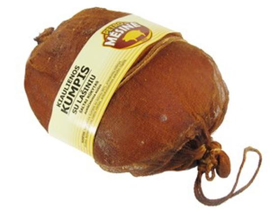 """Picture of Smoked Pork Ham With Lard """"Kiaulienos Kumpis"""", Petro Mesine ±1.1kg"""