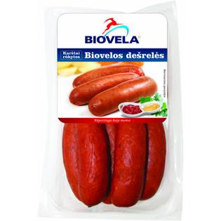 Изображение  Biovela - Сосиски Biovelos горячего копчения 570г