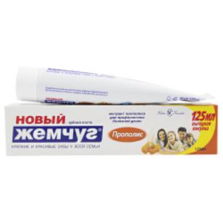 """Изображение Зубная паста """"Новый Жемчуг"""", Прополис, 125 мл"""