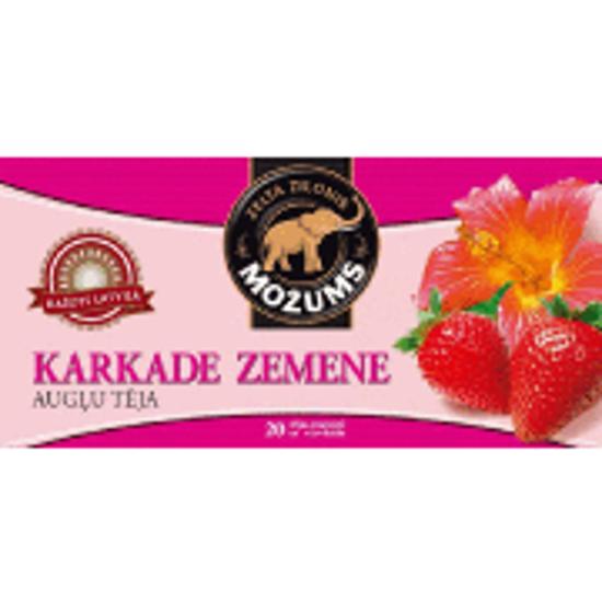 """Изображение  Чай фруктовый """"Mozums"""" - Karkade Strawberries, 30гр"""