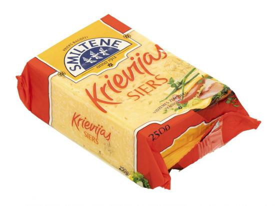 "Изображение  Smiltenes Piens - Сыр ""Криевияс"" 50%, 250г"