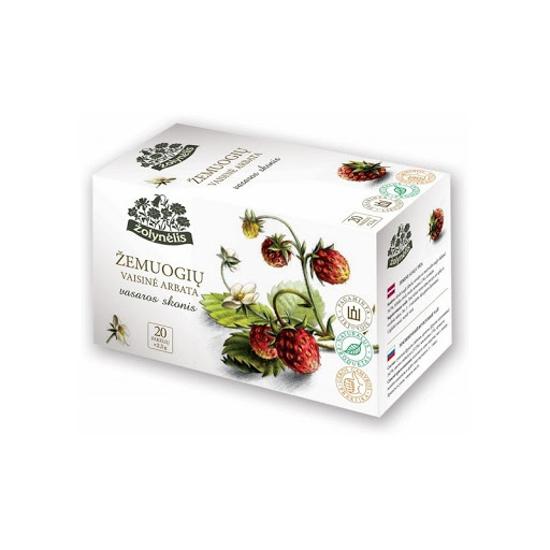 Изображение Vasaros Skonis - Чай с лесной клубникой 20x2,5 г