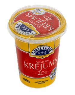 Picture of Smiltenes Piens - Sour cream 20%, 400g