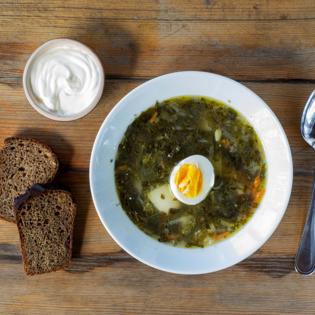 Изображение Щавелевый суп ±500ml (Вегетарианский)
