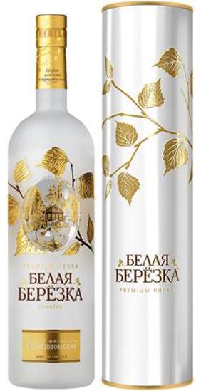 "Изображение Водка ""Белая Березка"" Gold в тубе 1L 40%"