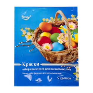 Изображение Краситель для яиц  5 цвета 12g