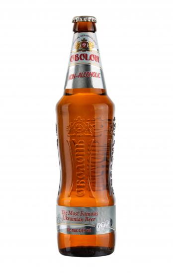 "Picture of Beer, Alcohol Free ""Obolon""  0% Alc. 0.5L"